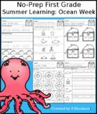No-Prep First Grade Summer Learning: Ocean Week