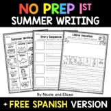 No Prep First Grade Summer Writing - Distance Learning