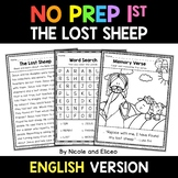 No Prep First Grade The Lost Sheep Bible Lesson - Distance