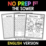 No Prep First Grade The Sower  Bible Lesson - Distance Learning