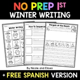 No Prep First Grade Winter Writing - Distance Learning