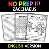 No Prep First Grade Zacchaeus Bible Lesson - Distance Learning