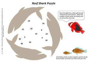 Reef Fishes Pack  - Visual Math and Logic Puzzles for Middle and Upper Primary