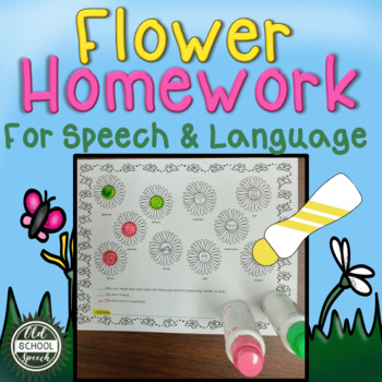No Prep Flower Homework for Speech/Language
