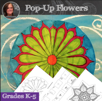 No Prep Flower Pop-Up Art Activity - 3D Interactive Flower Display
