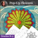 No Prep Flower Pop-Up Art Activity - 3D Interactive Flower