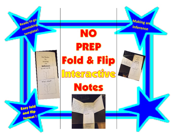 No Prep Fold & Flip Interactive Notes: Inference