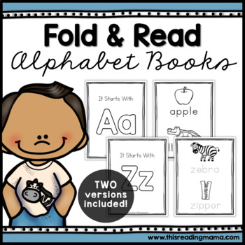 No Prep Fold & Read Alphabet Books