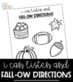 No Prep Following Directions Activity for Fall - Speech an