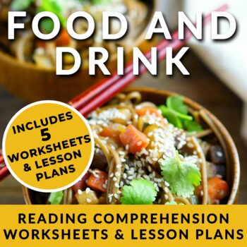 No Prep - Food and Drink Reading Lessons for ESL/ELL & English students