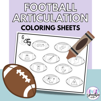 No Prep Football Articulation Coloring: All Sounds