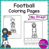 No Prep Football Writing and Coloring Pages