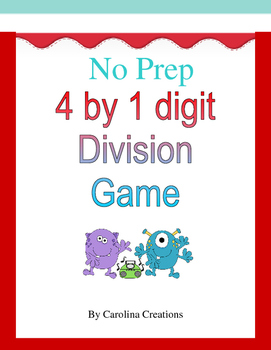 No Prep Fourth Grade Division Game 4.NBT.6