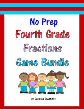 No Prep Fourth Grade Game Bundle - Fractions
