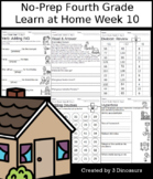 No-Prep Fourth Grade Learning At Home Week 10: Distance Learning