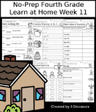 No-Prep Fourth Grade Learning At Home Week 11: Distance Learning