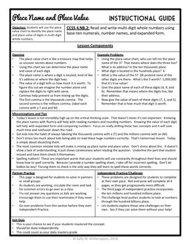 Third-Fourth Grade Place Value Unit: Over 70 Pages of Lesson Materials