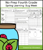 No-Prep Fourth Grade Spring Learning: Bug Week - Distance