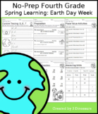 No-Prep Fourth Grade Spring Learning: Earth Day Week - Dis