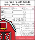 No-Prep Fourth Grade Spring Learning: Farm Week - Distance