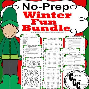 No-Prep Fun Winter Bundle