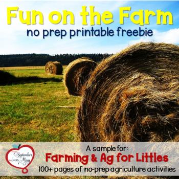 No Prep Fun on the Farm FREEBIE