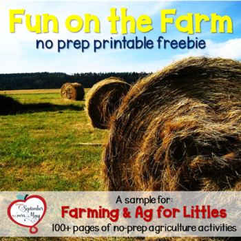 No Prep Fun on the Farm FREEBIE