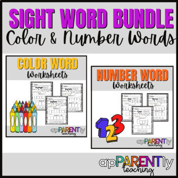 No Prep Functional Sight word pack - Colors and Numbers
