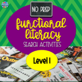 No Prep Informational Text Search Activities - Level 1