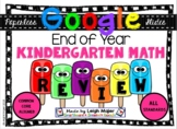 GOOGLE End of Year Kindergarten Math Review  NO PREP - Com