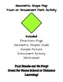 No Prep Geometric Shape Town or Amusement Park Activity - Distance Learning