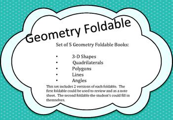 No Prep Geometry Foldables
