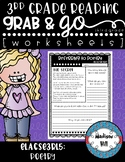 No Prep, Grab-and-Go worksheets: 3rd Grade RL.3.5 Poetry