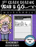 No Prep, Grab-and-Go worksheets: 3rd Grade RL.3.7 Illustrations
