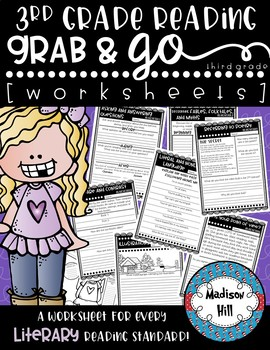 No Prep, Grab-and-go worksheets: 3rd Grade Literary Reading Standards