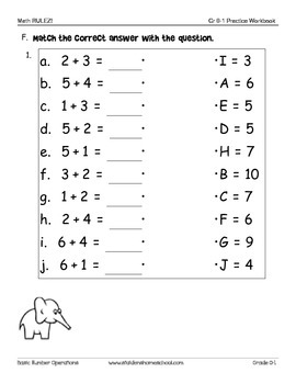 No Prep! Grade 0-1 Numbers and Counting Practice Workbook CAPs Compatible
