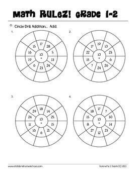 No Prep! Grade 1-2 Basic Addition Workbook - CAPs Compatible