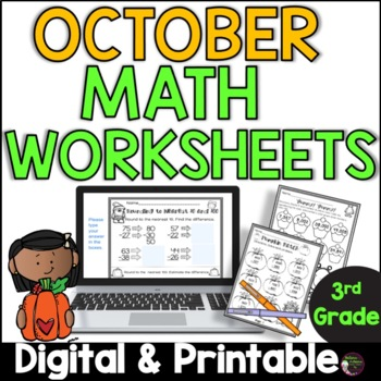 No Prep! Grade 3! Math for October!