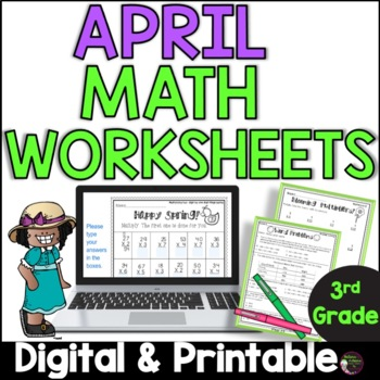3rd Grade Math for April