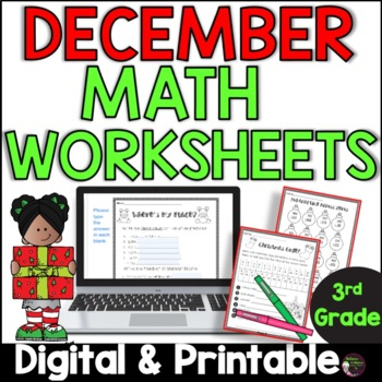 No Prep! Grade 3! Math for December!