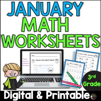 No Prep! Grade 3! Math for January!
