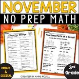 3rd Grade Math for November