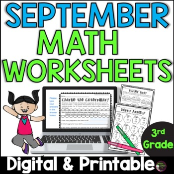 No Prep! Grade 3! Math for September!