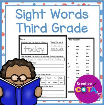 Grade 3 Sight Words and Activities