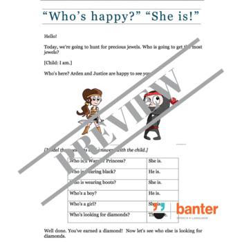 """No Prep Grammar Builder: Uncontractable Copulas (""""Who's happy?"""" """"She is!"""")"""