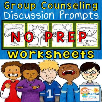 No Prep CBT & Solving Focused Worksheets for Groups and Individal Counseling