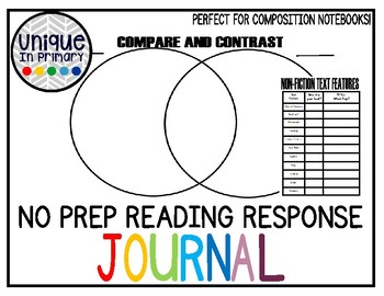 No Prep Guided Reading Journal