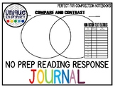 No Prep Students Write About Reading, Guided Reading Journal!