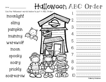 No Prep: Halloween - ABC Order