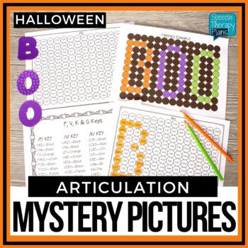 No Prep Halloween Articulation Color By Word